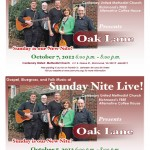 image of postcard for Sunday Night Live featuring Oak Lane